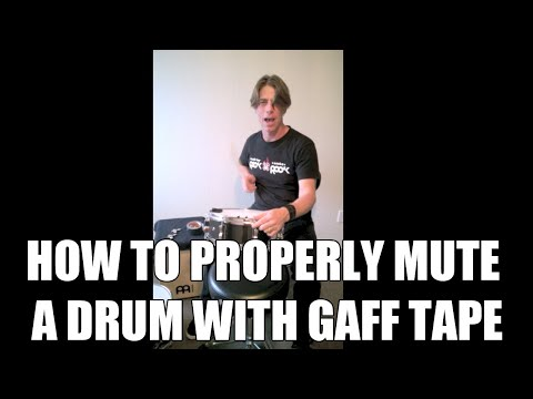 How To Properly Mute A Drum With Gaff Tape Youtube