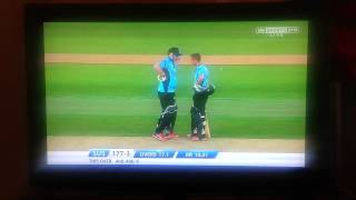 Scott Styris hits world record from one over. 38 runs!