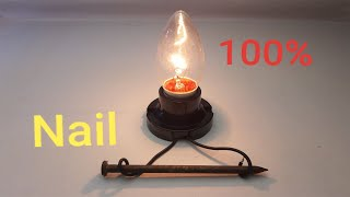 New Free Energy Electric Coil 100% Using Magnet With Nail Real New Creative For 2019