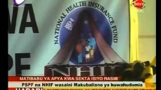 PSPF na NHIF Wazindua Fao Jipya