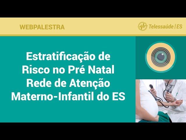 WebPalestra: Estratificação de Risco no Pré Natal Rede de Atenção Materno-Infantil do ES