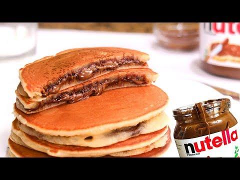 Tortitas Americanas Rellenas de Nutella | Hot Cakes | Pancakes