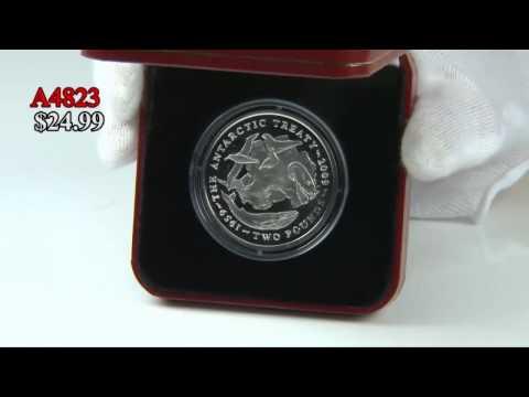 2009 Antarctic Treaty Nickel Coin