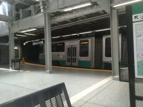MBTA - Government Center Station - Blue Line and Green Line Trains