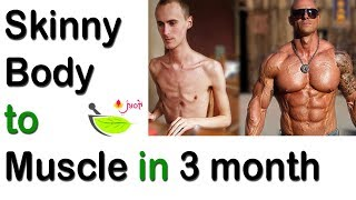Weight gain tips for Skinny guys   Skinny body best diet   how Skinny Guys can get Muscular body