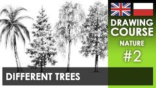 Drawing tutorial - Different trees | Kurs rysunku - Różne drzewa [S02E02 ENG/PL]