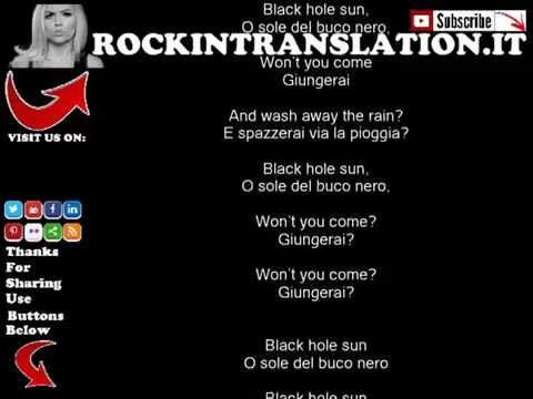 Sound Garden - Black Hole Sun con testo e traduzione in italiano simultanea