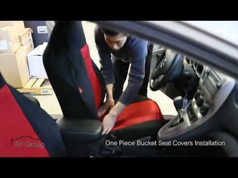One Piece Car Bucket Seat Covers Installation - FH Group® - YouTube