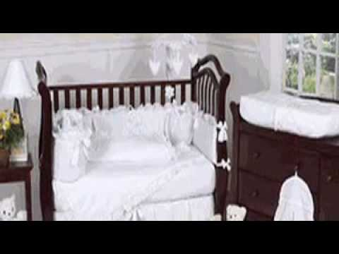 White Eyelet Baby Girl Crib Bedding Set by JoJo Designs