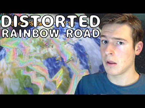 INSANE Corrupted Rainbow Road Hack! - Mario Kart Wii Custom Track