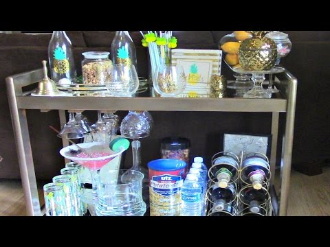 DIY Bar Cart (Thrift Store Upcycle & Staging)