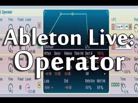Ableton Live 9 Tutorial PART 4 : Operator