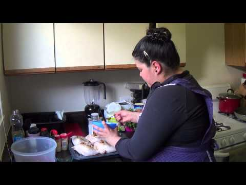 Peruvian Rotisserie Chicken Pt.1-Baked Fries w Mixed Green Salad & Creamy CucumberCilantro Dressing