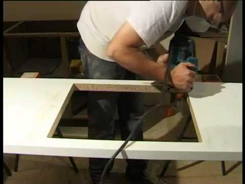 Awesome Mark Two Fitting   Maia Worktops, Cutting Out For A Sink Or Hob   YouTube