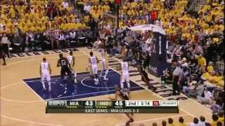 Dwyane Wade 41 LeBron James 28 combined 69 points vs  Indiana Pacers NBA Playoffs