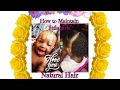 HOW TO MAINTAIN LITTLE GIRLS NATURAL HAIR (wash hot oil and style)