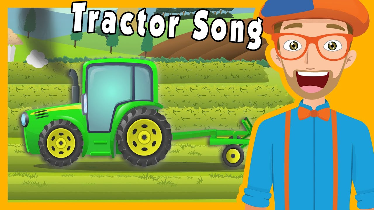 Tractors for Kids with Blippi | The Tractor Song - YouTube