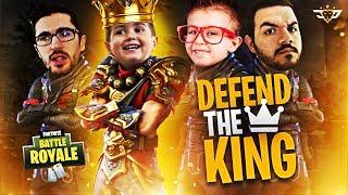 THE FIRST EVER DEFEND KING CONNOR CHALLENGE!!! (Fortnite: Battle Royale)