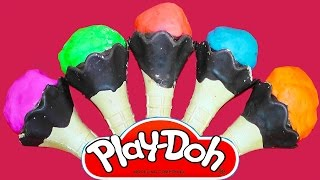 NEW Play-Doh Ice Cream Cone Surprise Eggs Cars Mickey Mouse Frozen