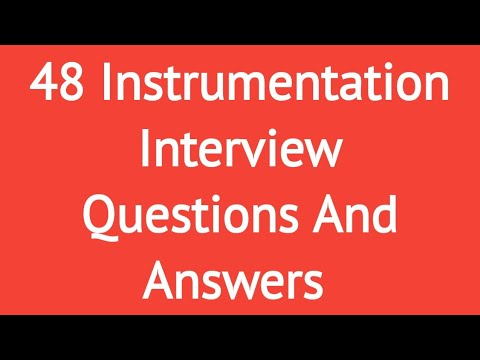48 Instrumentation Interview Questions and Answers|| most frequently asked  in an interview