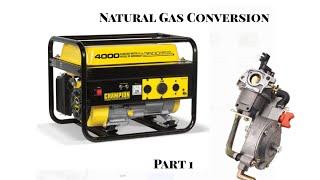 Part 1 - Converting Champion Generator to Natural Gas or Propane NG LP