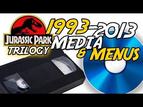 Jurassic Park Media Evolution | 1993-2013 | VHS, DVD, Blu-ray