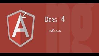 Angular 2 Dersleri | ngClass - 4