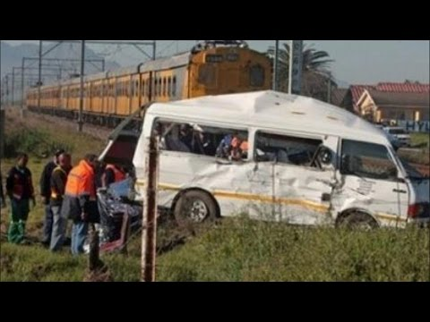 15 Killed | In Bus train Crash in South Africa