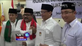 Live Report Pengundian Nomor Urut Pilkada Banten - NET 12