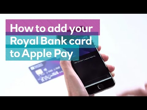 How to add your Royal Bank card to Apple Pay