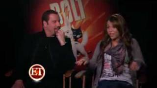 Miley Cyrus and John Travolta interview for the movie: Bolt!