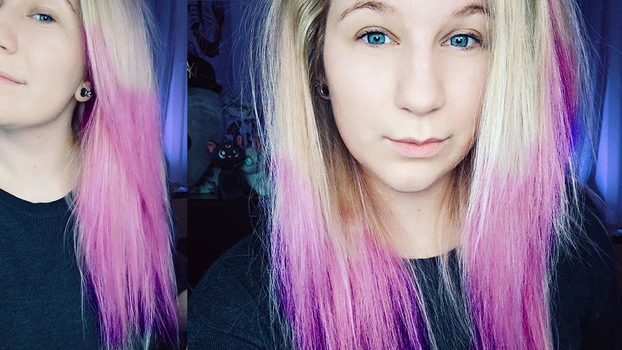 dying hair soft pink ombre