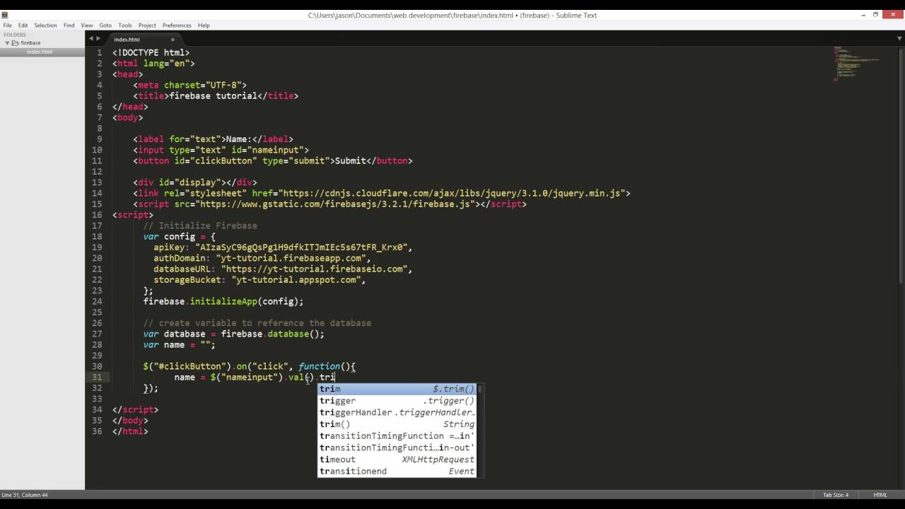 How to use Firebase with Jquery