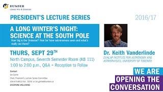 President's Lecture Series - Dr. Keith Vanderlinde