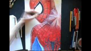 How To Draw Spider-Man The Amazing Spider-Man 2 Speed Painting by Damián Riestra