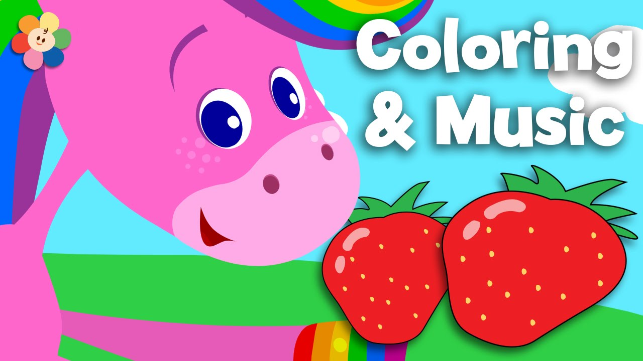 Fruit | Coloring and Music| Rainbow Horse | BabyFirst TV - YouTube