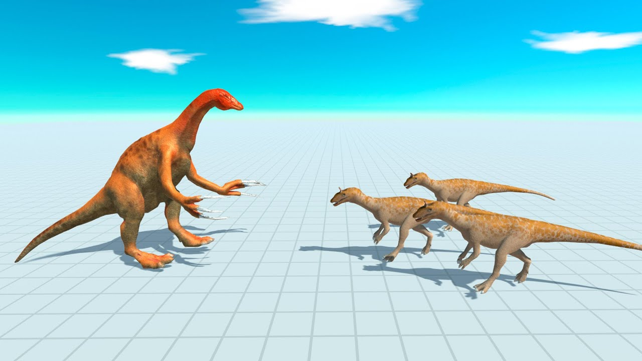 Therizinosaurus vs All Dinosaur in Animal Revolt Battle Simulator