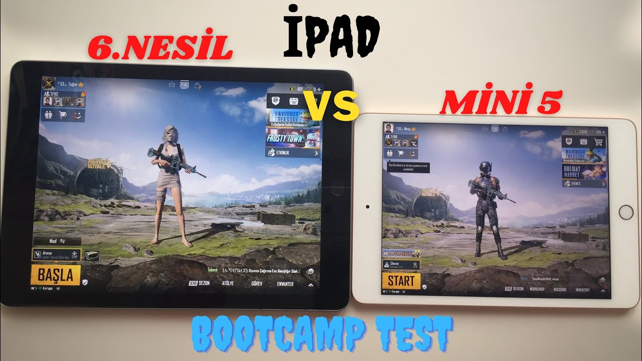 İPAD MİNİ 5 VS 6.NESİL BOOTCAMP VE TDM GAME TEST 2020 PUBG MOBİLE