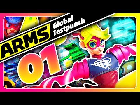 MÖGE DER KAMPF BEGINNEN! 🥊 #01 • Let's Play ARMS GLOBAL TEST PUNCH