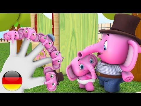 Finger Familie | Deutsche Kinderlieder | Kinderlieder | Baby-Zeichentrickfilm | Finger Family
