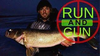 RUN and GUN Walleyes - Ice Fishing - Hayward, Wisconsin