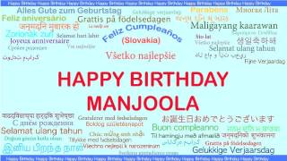 Manjoola   Languages Idiomas - Happy Birthday