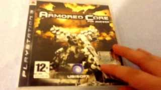 Unboxing. Armored core for answer PS3