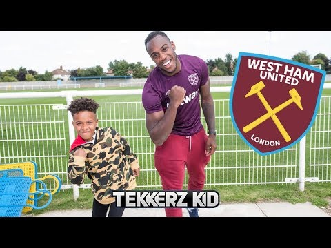 Teaching a Pro Footballer New Celebrations! | A Day in the life of Tekkerz Kid