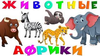 Животные Африки! Учим животных Звуки животных Развивающие мультики для детей видео с животными