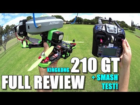 KING KONG 210GT FPV Race Drone Review - [Unboxing, Inpection, Flight / Crash Test!, Pros & Cons]