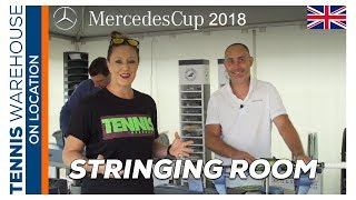Exclusive Look at the ATP Mercedes Cup Babolat Tennis Stringing Room