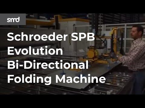 Schroeder CNC Folder SPB EVO Bi-Folder W Vacuum And Part Flipper