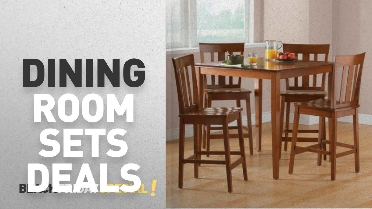 Walmart Top Black Friday Dining Room Sets Deals Mainstays 5 Piece Counter Height Set