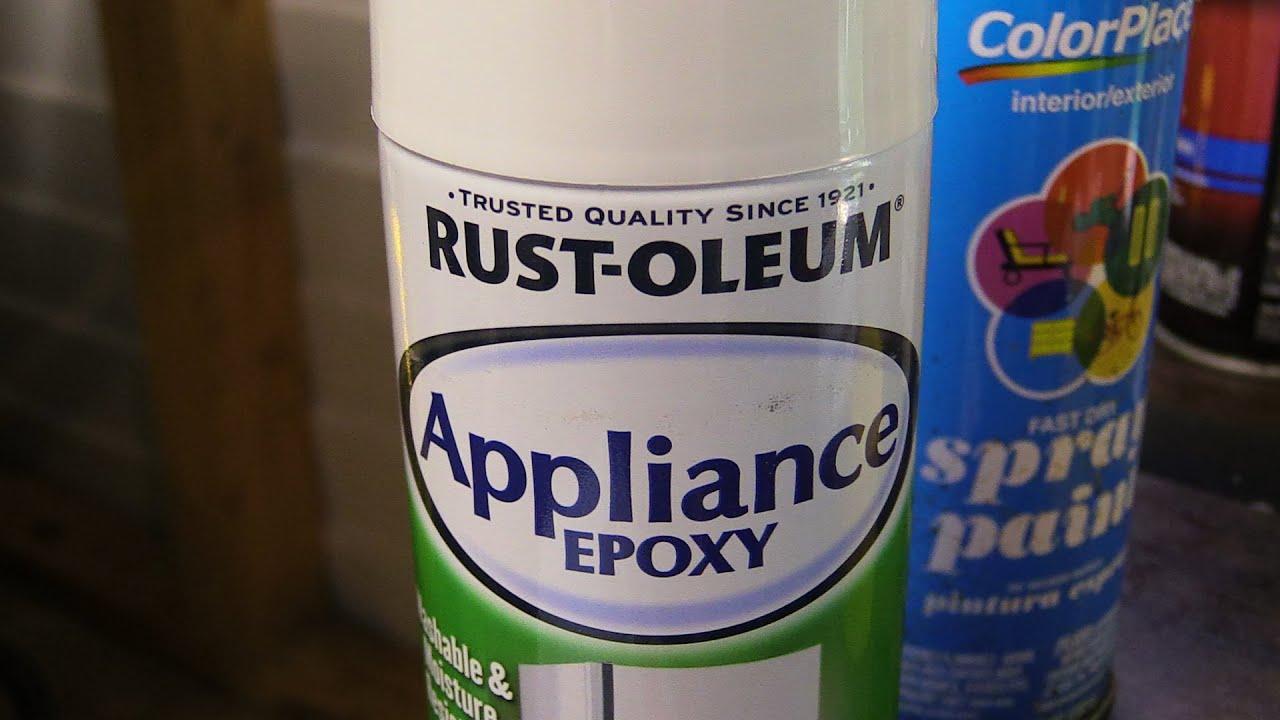 Rustoleum Appliance Epoxy Paint Test YouTube - Epoxy paint for plastic tubs